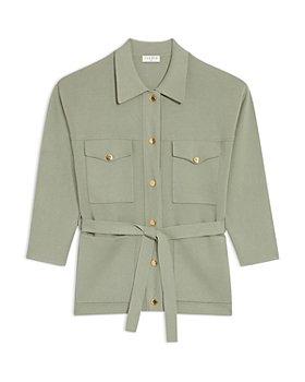 Sandro - Amelie Shirt Style Cardigan
