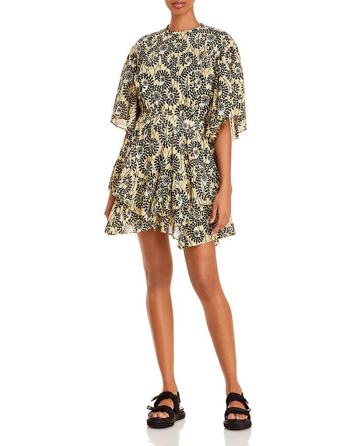 DEREK LAM 10 CROSBY Mini dresses LAYNE RUFFLED HEM DRESS
