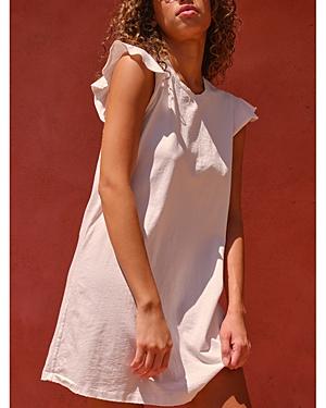 Cotton Flutter Sleeve Dress