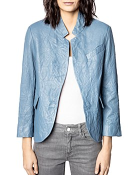 Zadig & Voltaire - Verys Crinkled Leather Jacket