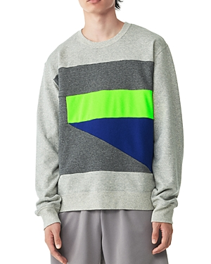 Colorblock Graphic Crew Sweatshirt