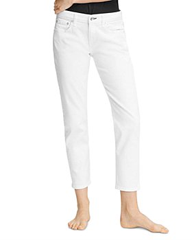 rag & bone - Dre Low-Rise Slim Boyfriend Jeans in White
