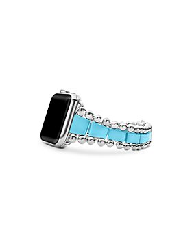 LAGOS - Smart Caviar Blue Ceramic Apple® Watch Bracelet, 42mm