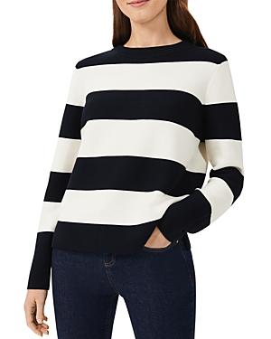 Hobbs London Cleo Striped Cotton Sweater