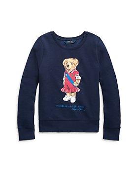 Ralph Lauren - Girls' Polo Bear Fleece Sweatshirt - Little Kid, Big Kid