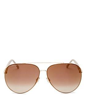 Jimmy Choo - Women's Brow Bar Aviator Sunglasses, 46mm