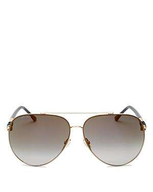 Jimmy Choo Women's Brow Bar Aviator Sunglasses, 46mm