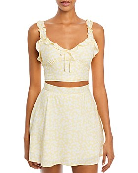 Charlie Holiday - Fable Floral Print Sleeveless Crop Top