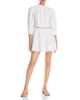 Alice and Olivia - Clark Mandarin Collar Mini Dress