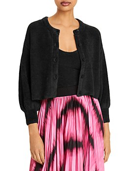 Alice and Olivia - Sylvie Fuzzy Cropped Cardigan