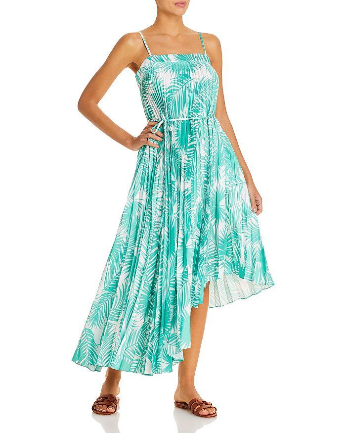 MILLY - Irene Pleated Asymmetric Dress