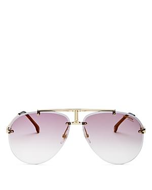 Men's Brow Bar Aviator Sunglasses