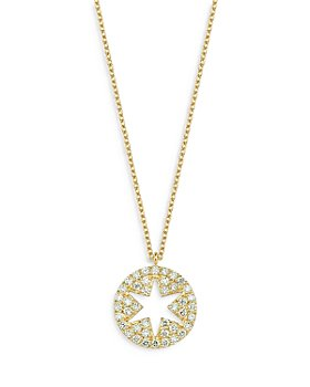 """OWN YOUR STORY - 14K Yellow Gold Cosmos Diamond Star Cutout Pendant Necklace, 16"""""""