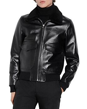 Sandro - Leather Aviator Jacket