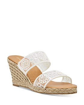 Andre Assous - Women's Aja Decorated Double Strap Espadrille Wedge Sandals