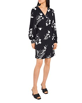 VINCE CAMUTO - Floral Long Sleeve Dress