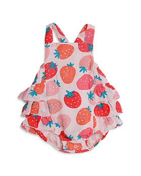 Angel Dear - Girls' Strawberry Ruffled Sunsuit - Baby