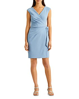 Ralph Lauren - Ruched Crepe Cocktail Dress