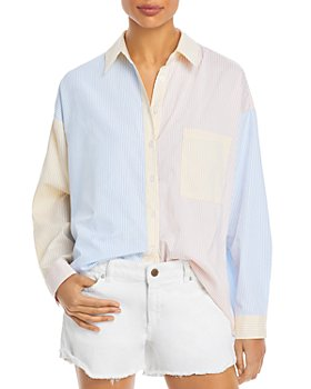 Lucy Paris - Color-Block Button Down Shirt