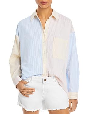 Color-Block Button Down Shirt