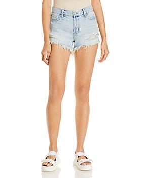 Pistola - Gigi Low Rise Cut Off Denim Shorts in Light Blue
