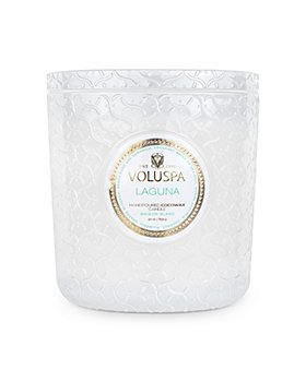Voluspa - Laguna Embossed Glass Triple Wick Luxe Candle