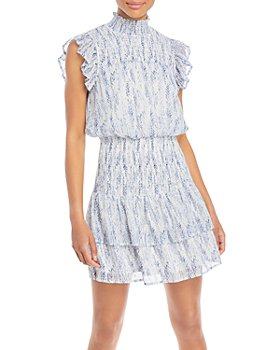 AQUA - Ruffled Smocked Mini Dress - 100% Exclusive