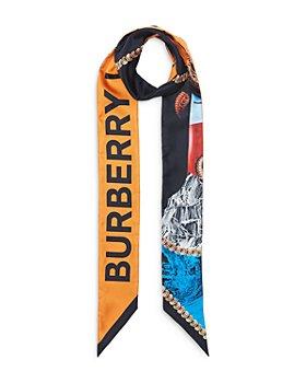 Burberry - Montage Print Silk Skinny Scarf