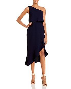 AQUA - Crepe Flounce Cocktail Dress - 100% Exclusive