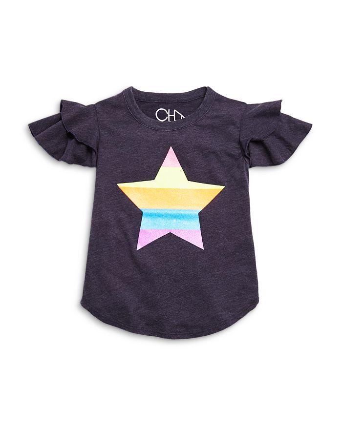 CHASER - Girls' Flutter Sleeve Star Graphic Tee - Little Kid