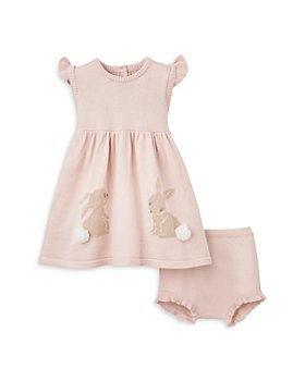 Elegant Baby - Girls' Knit Bunny Dress & Bloomers Set - Baby