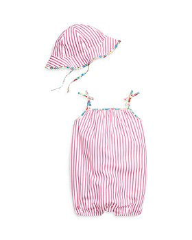 Ralph Lauren - Girls' Striped Romper & Hat Set - Baby