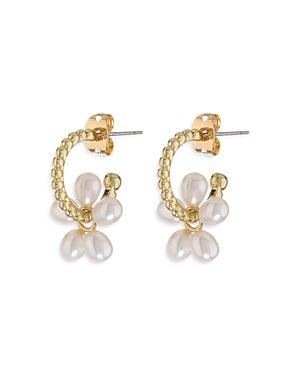 Cultured Freshwater Pearl Huggie Hoop Earrings