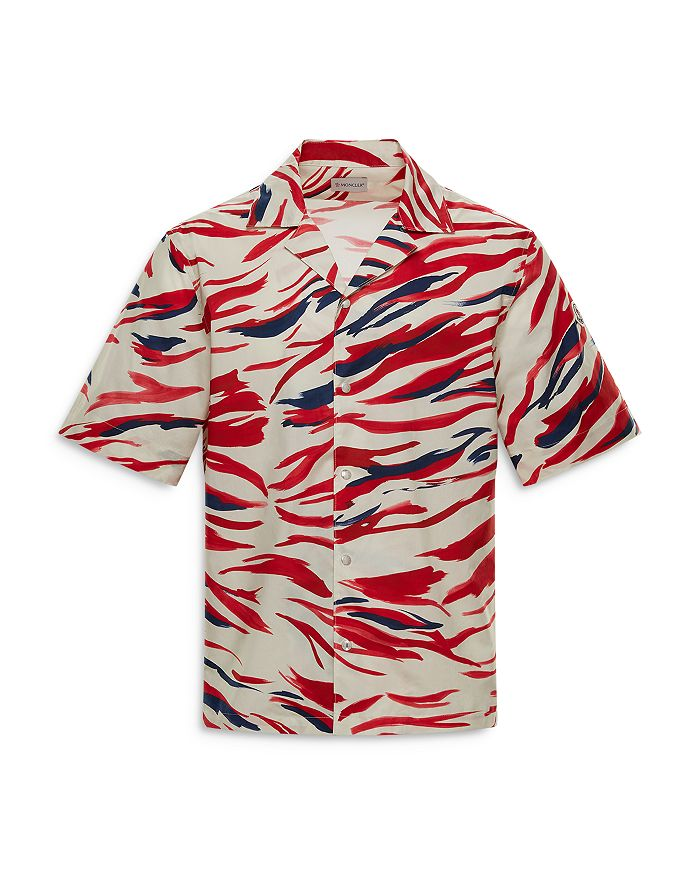 MONCLER T-shirts SURF PRINT POPLIN REGULAR FIT SHIRT