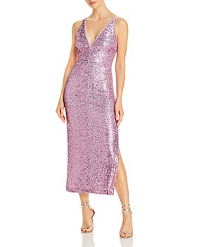 AQUA - Sequined Midi Dress - 100% Exclusive