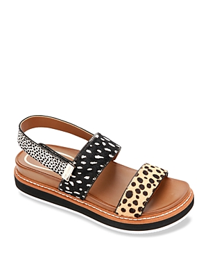 Women's Laney Printed Calf Hair Jute Slide Sandals