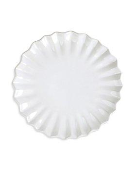 VIETRI - Incanto Stone White Pleated Salad Plate