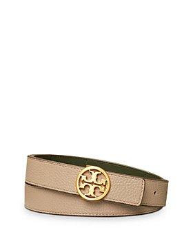 """Tory Burch - Women's 1"""" Reversible Leather Logo Belt"""