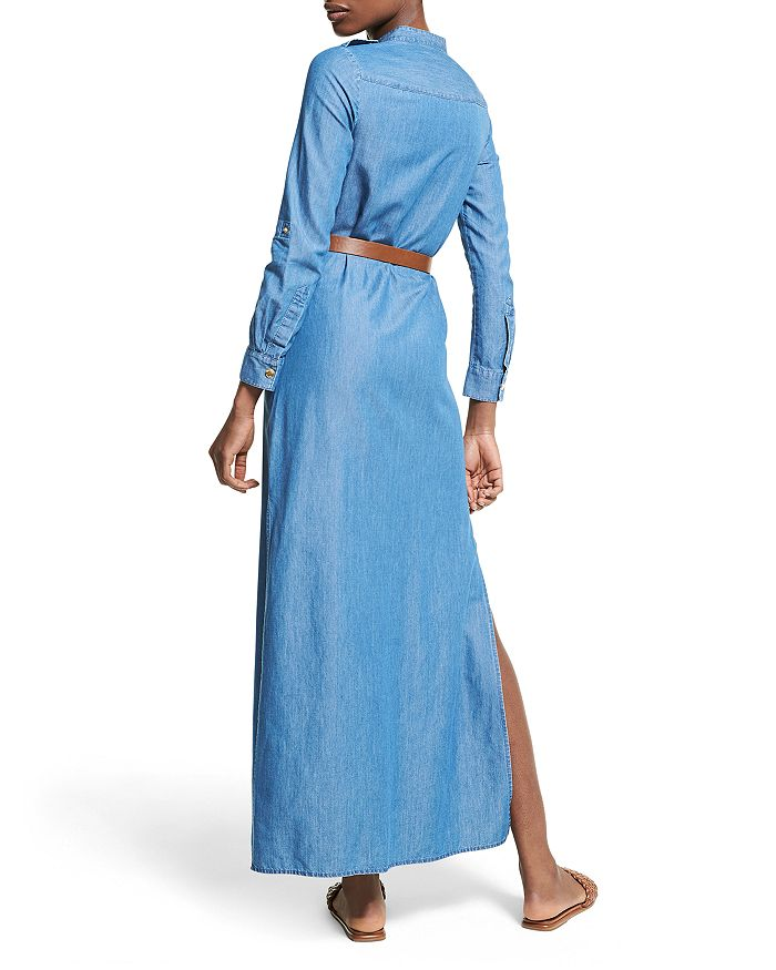 MICHAEL MICHAEL KORS Maxi dresses CHAMBRAY MAXI SHIRT DRESS