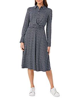 HOBBS LONDON - Aretha Rope Print Midi Shirt Dress
