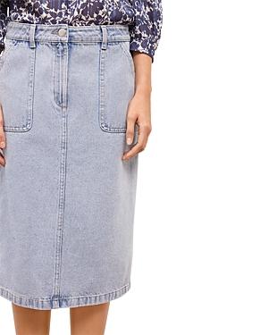 Laia High-Waist Denim Pencil Skirt