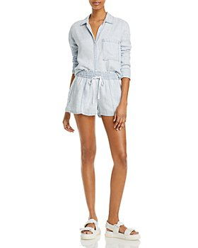 Bella Dahl - Pleated Back Shirt & Drawstring Shorts
