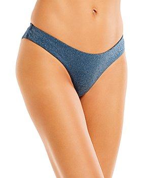 AQUA - Metallic Bikini Bottom