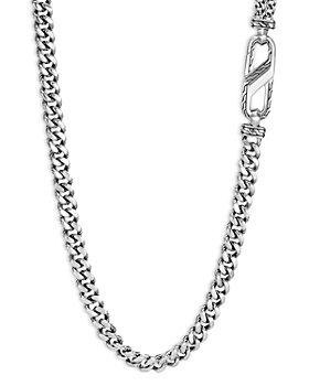 """JOHN HARDY - Men's Sterling Silver Classic Chain Carabiner Curb Link Necklace, 26"""""""