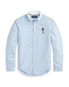 Ralph Lauren - Boys' Polo Bear Button Down Oxford Shirt - Little Kid, Big Kid