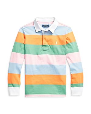 Ralph Lauren Shirts POLO RALPH LAUREN BOYS' STRIPED RUGBY SHIRT - BIG KID