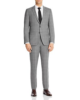 BOSS - Huge/Genius Wool Tonal Plaid Slim Fit Suit