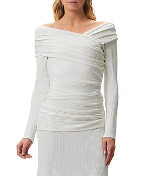 Hervé Léger - Couture Draped Off-the-Shoulder Top
