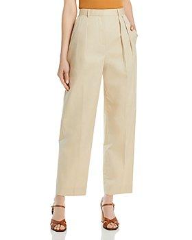 Tory Burch - Poplin Pleated Trousers