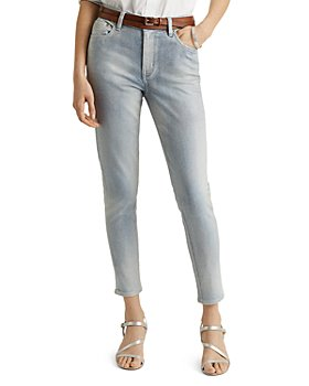 Ralph Lauren - High Rise Skinny Ankle Jeans in Faint Pearl Blue Wash